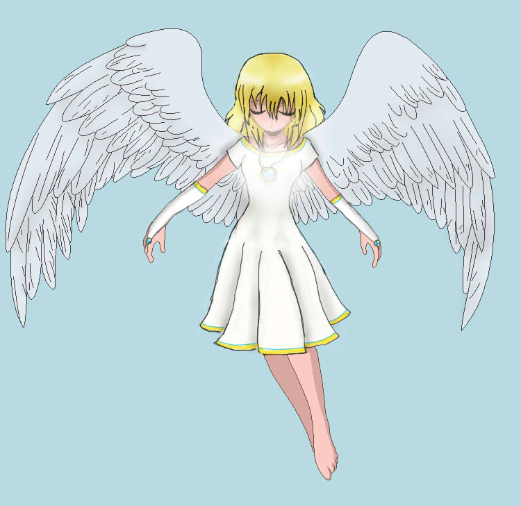 Anime Girl With Wings Base Pictures to Pin on Pinterest ...