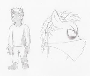 Humen furry pony thing by KyleScott