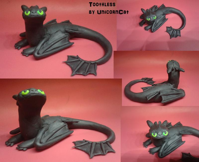 ~Little Toothless Sculpt by UnicornCat
