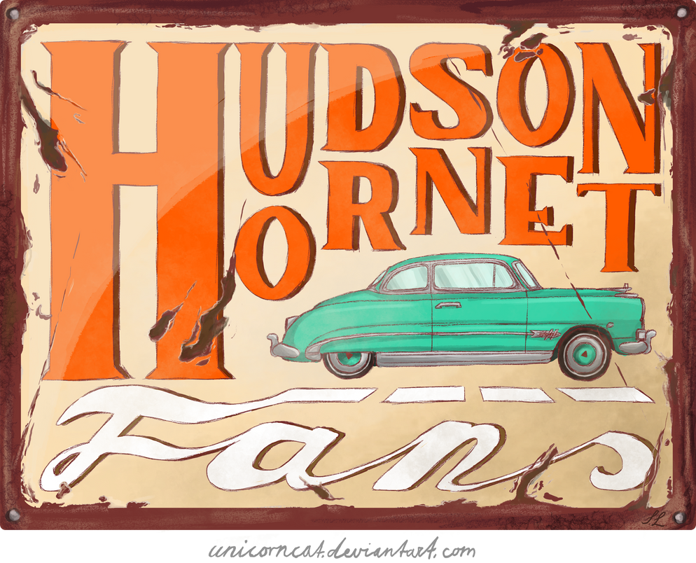 ~Hudson Hornet Fans - Vintage Plate by UnicornCat