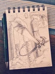 ~Sketchies: Flight Castle  by UnicornCat