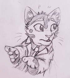 ~Sketch: Look!  by UnicornCat