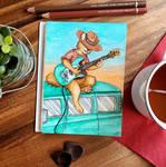~E-Guitar in Sunset  by UnicornCat