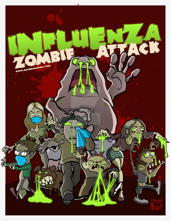 INFLUENZA ZOMBIE ATTACK by MachinGraphics