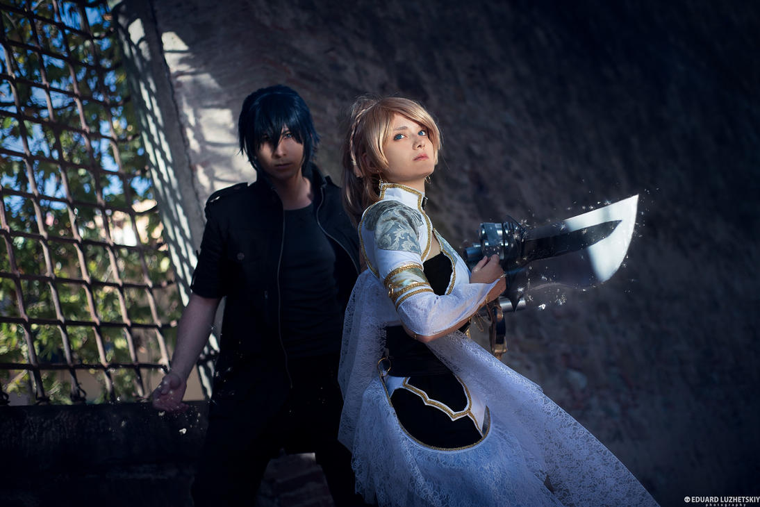 Final Fantasy XV Noctis and Luna by EduardLuzhetskiy