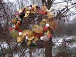 Winter Wreath: Gold by Sitara-LeotaStock