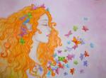 Butterfly Heaven - watercolour version by Sitara-LeotaStock