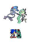 SonMiku with pokemon by sonic-speedsune-626