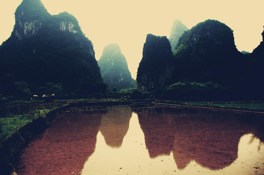 Yangshuo - Mountains stock 2 by turquoise-truck