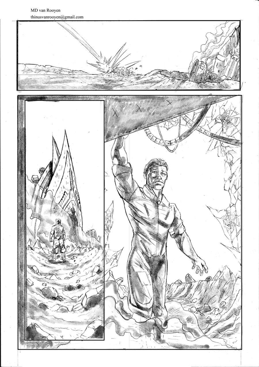 Green Lantern Page Three by ThinusvanRooyen