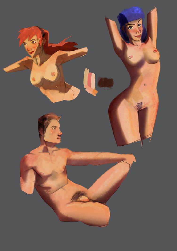 Anatomy and paint studies by ThinusvanRooyen
