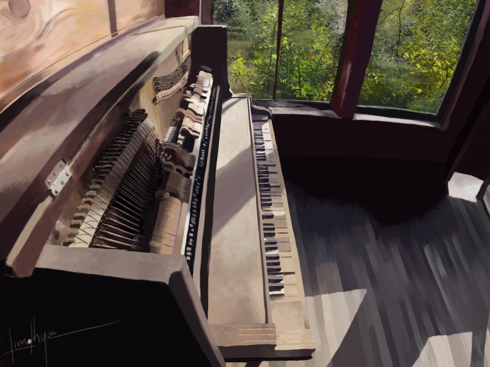 Painted Piano Practice by a3sthesia