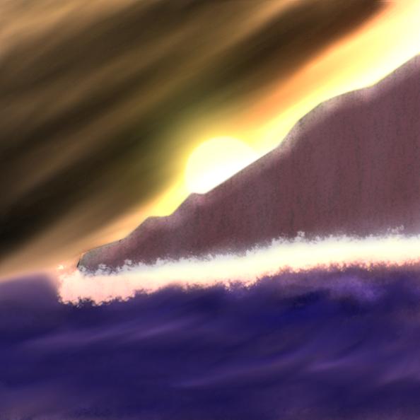 Sunset Storm Break by Tanglemorph-wanderer