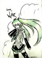 Miku for Midori-no-bara-hai by dragonartist22