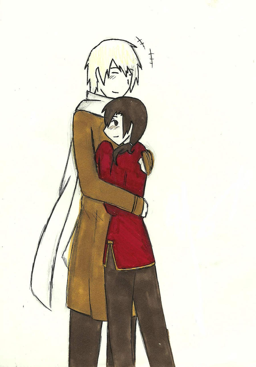 APH--Russia x China hug by dragonartist22