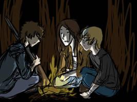 COFFEEPOT- zombie AU- fireplace by dragonartist22