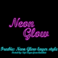 Freebie: Neon glow layer style by emperorwarion