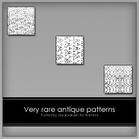 Freebie:Rare antique patterns by emperorwarion