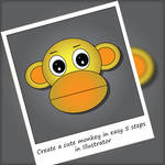 Create a cute monkey in 5 steps in Illustrator