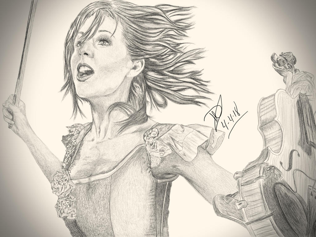 Lindsey Sterling Drawing by systmdamage