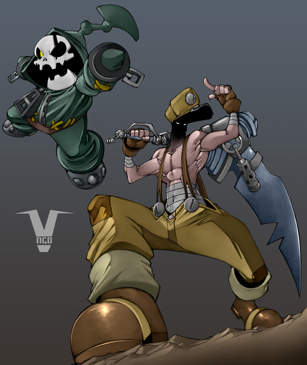 Ghoul and Syrus by bleedman