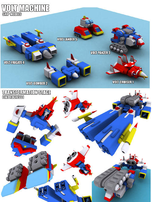 Voltes machines 3D by bleedman