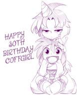 Coffgirl Birthday by bleedman