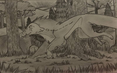Completed YCH - Running in the Woods