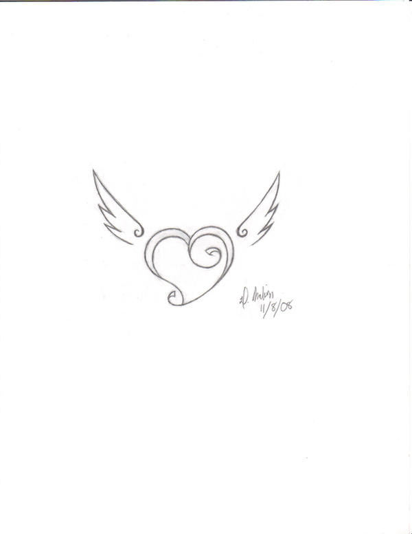 fly away heart tattoo by dmel87 on deviantart. Black Bedroom Furniture Sets. Home Design Ideas