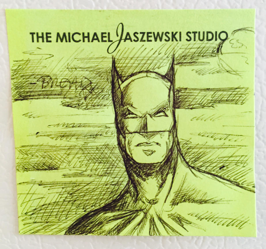 Sticky Note Batman by whyaduck