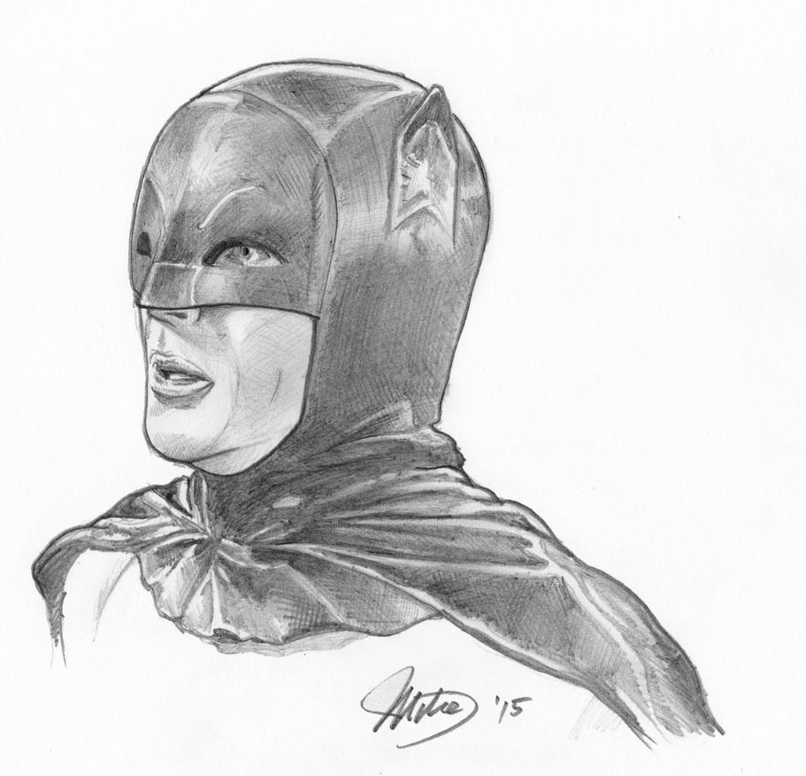 Adam West as The Batman by whyaduck