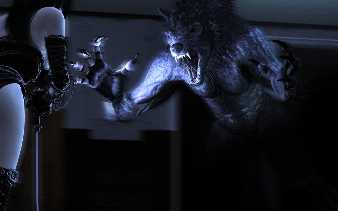 Werewolves Vs Vampires Wallpaper Werewolf vs  Vampire by