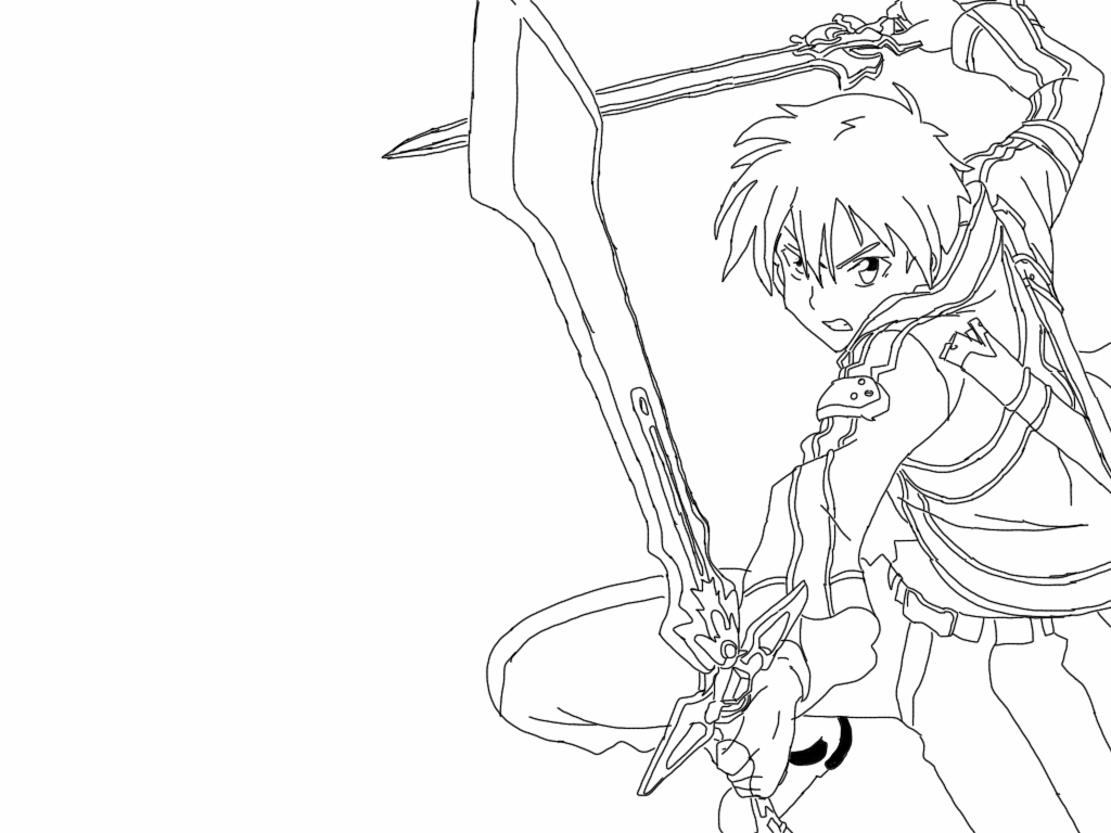 kirito and asuna coloring pages - mobile sao asuna coloring pages coloring pages