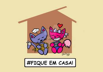 Gato Coio Stay Home!
