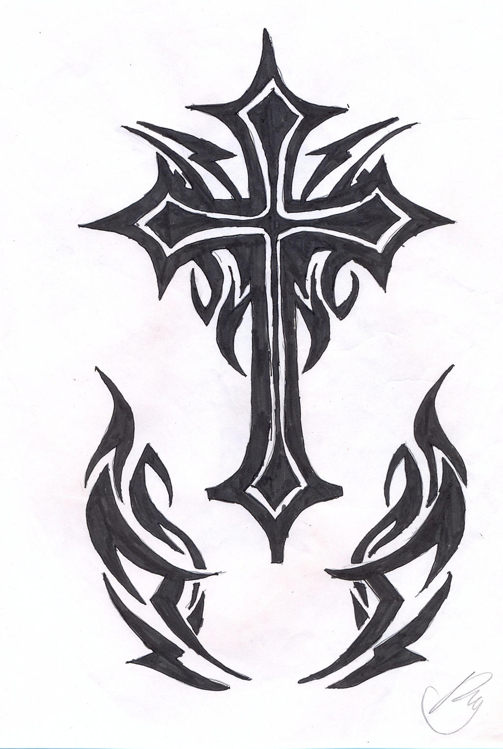 Pictures Of Tribal Cross Tattoos: Tribal Cross By Soifonsama On DeviantArt
