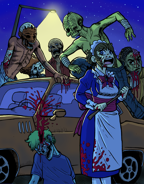 Technicolor Zombies by rabbitmaskedman