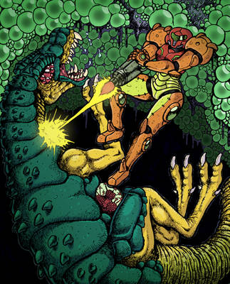 Metroid Tribute! by TheGutterBunny