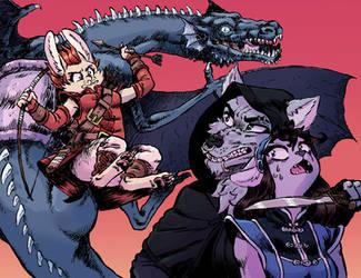 Dragon Rider by TheGutterBunny