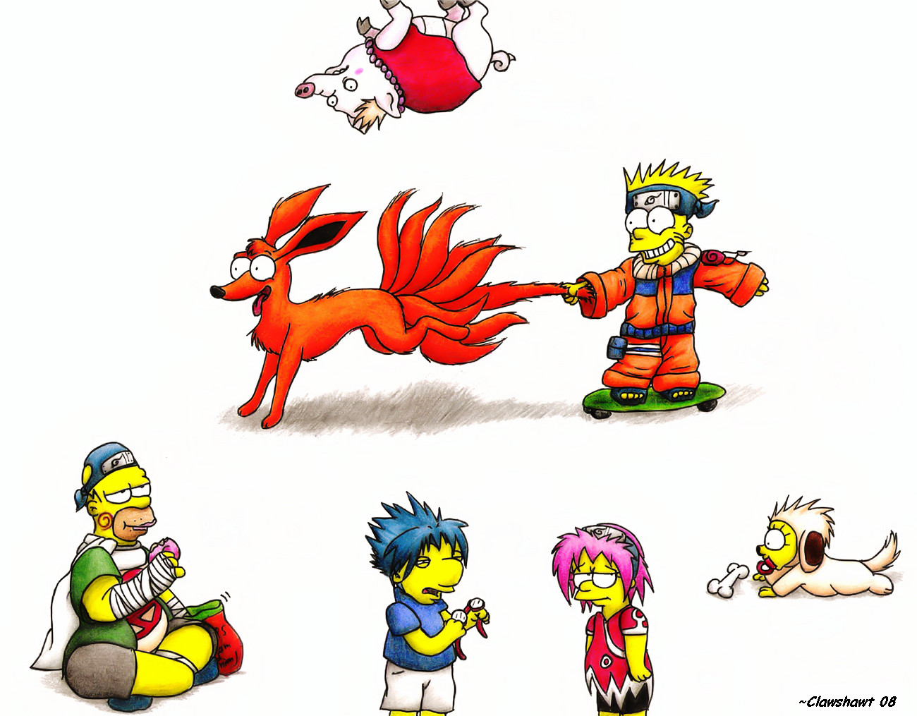 """image naruto  """" marrante"""" - Page 6 Simpsons_Cosplay_as_Naruto_by_Clawshawt"""