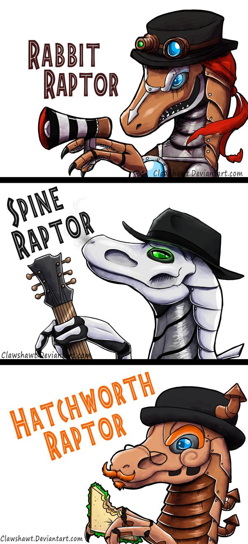 Steam Powered Raptors by Clawshawt