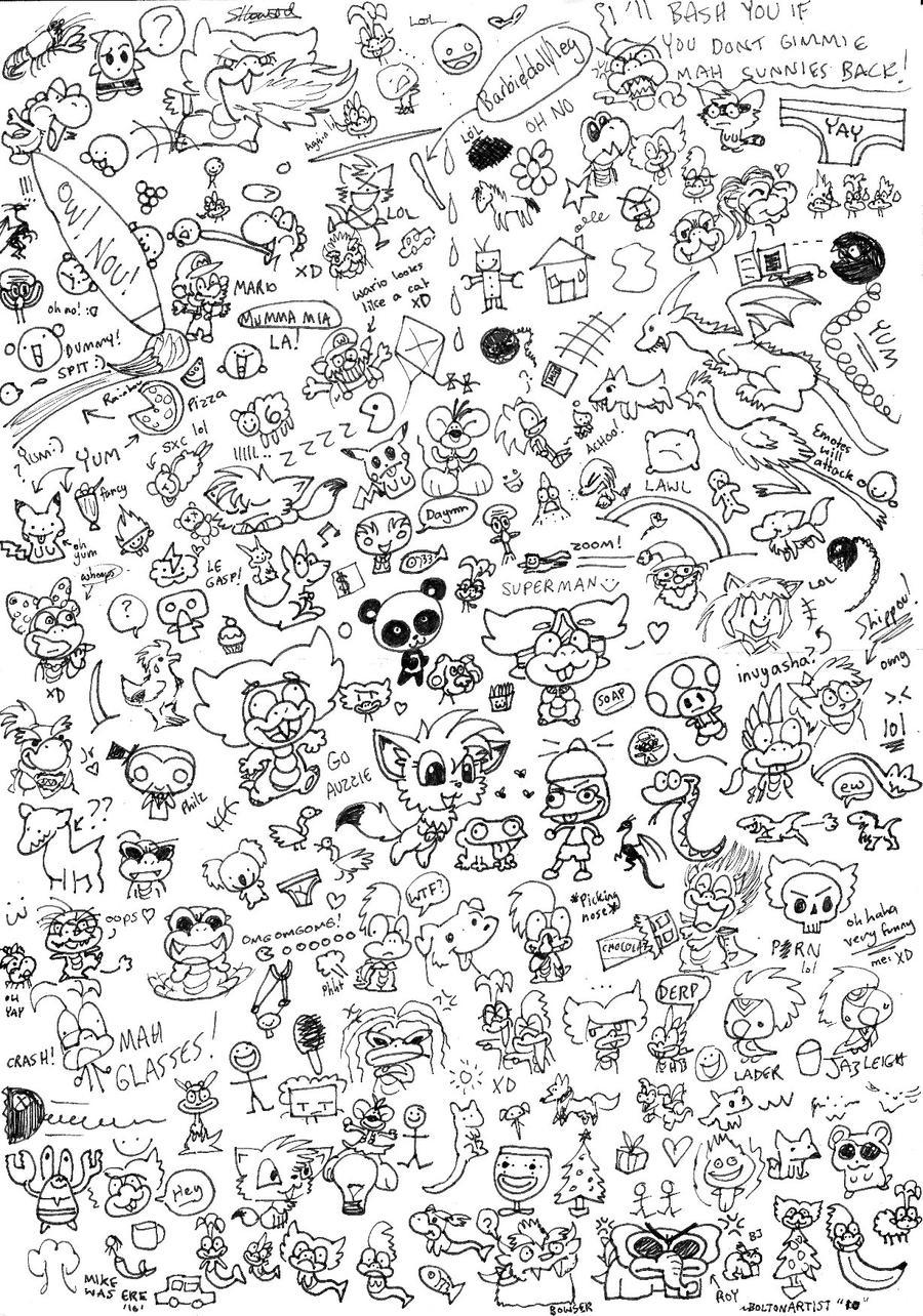 Massive random Doodle page by Boltonartist on DeviantArt