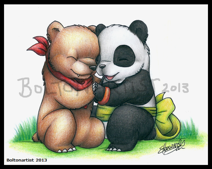 Kuma And Panda By Boltonartist On Deviantart