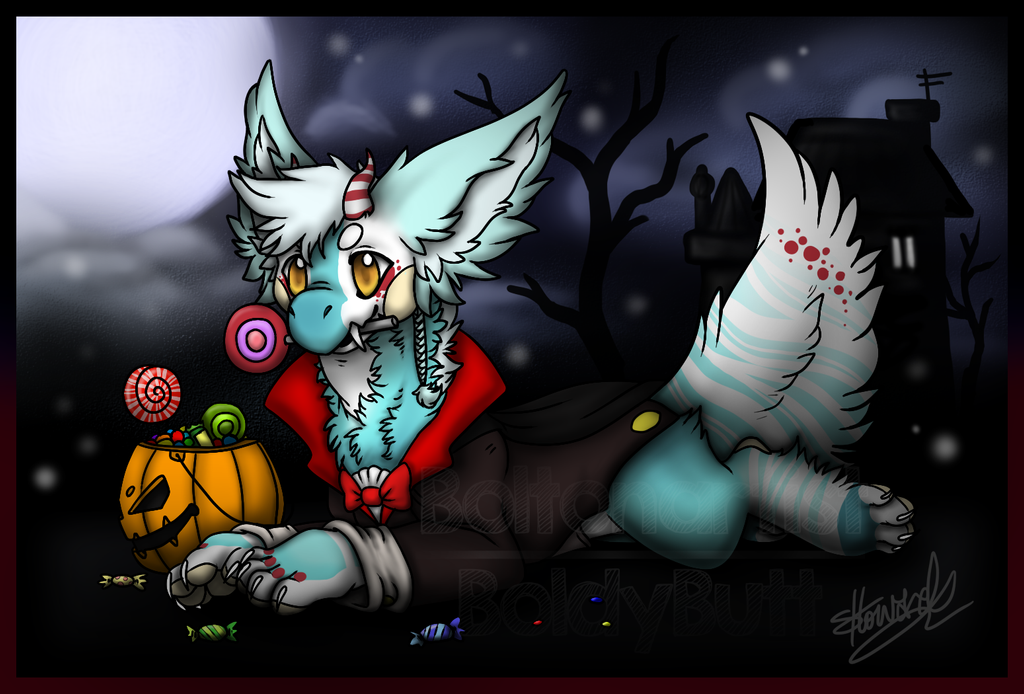 YCH: Halloween Muse by Boltonartist