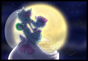 Comm: Blissful Moonlight Kiss by Boltonartist