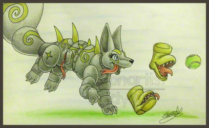 AT: Fetch the runaway ball! by Boltonartist
