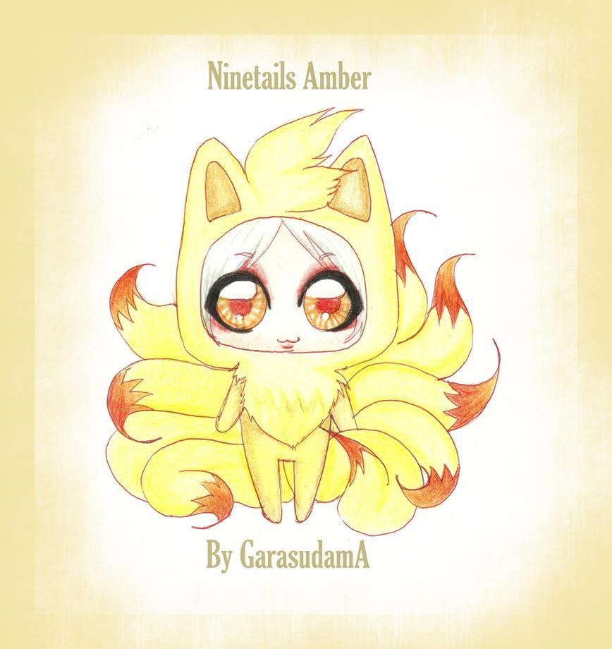 Ninetails Amber by GarasudamA