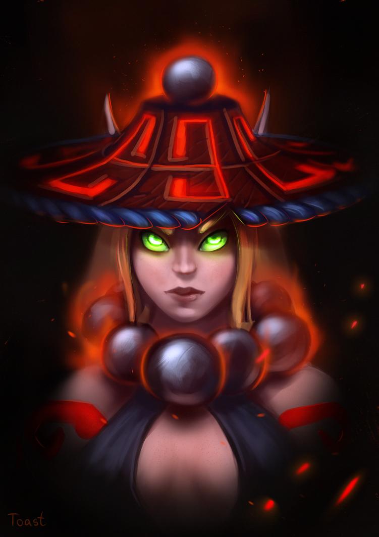 Blood elf girl. by LoastToast
