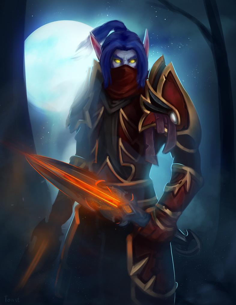 Rogue night elf by LoastToast