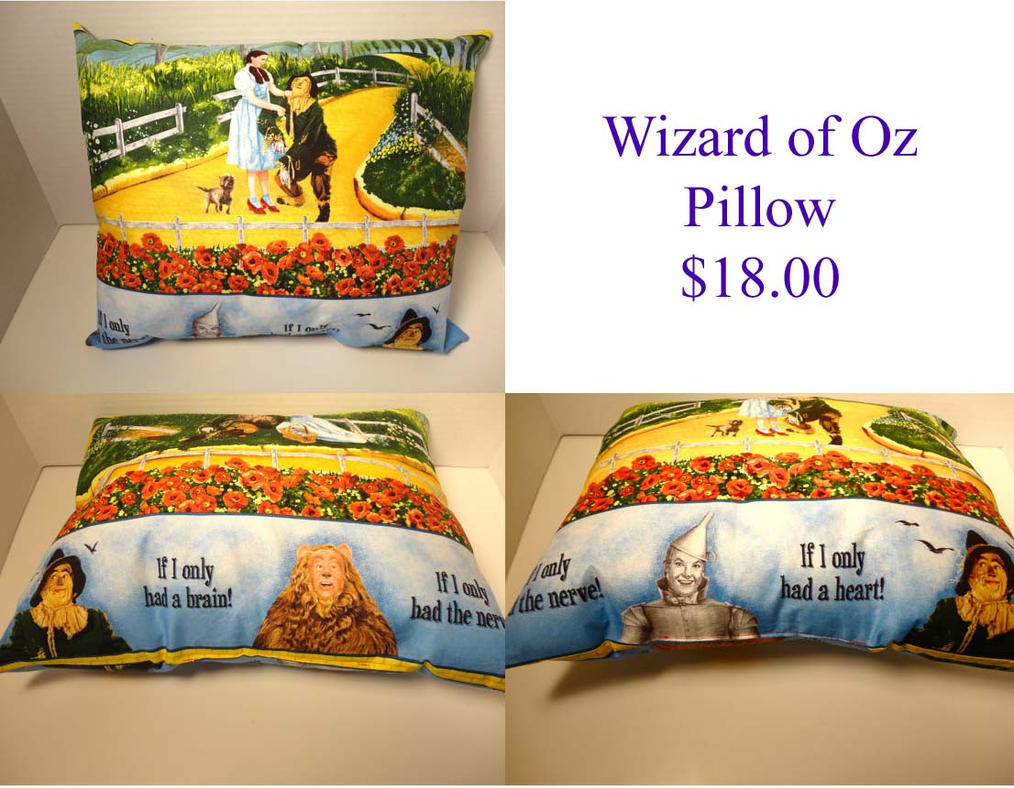 Wizard Of Oz Pillow By The2SistersShoppe On DeviantArt