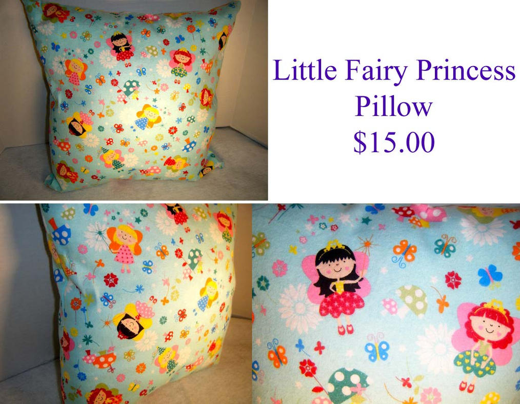 Little Fairy Princess Pillow By The2SistersShoppe On